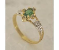 Anel de Formatura em Ouro 18K Cravejada com Brilhantes e Pedra Natural Verde 80cb184b79
