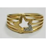 Anel em Ouro 18K  formato de estrela