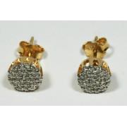 Brinco de Ouro 18k  Chuveiro Cravejada de Diamantes