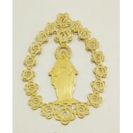 Pingente Nossa Senhora da Graça em Ouro Amarelo 18K