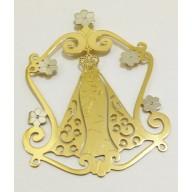 Pingente Nossa Senhora de Nazaré em Ouro Amarelo 18K