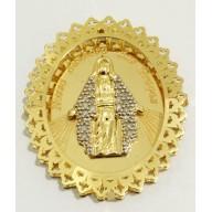Pingente Nossa Senhora das Graças em Ouro Amarelo 18K