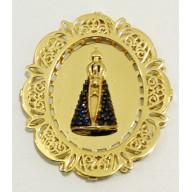 Pingente Nossa Senhora Aparecida em Ouro Amarelo 18K
