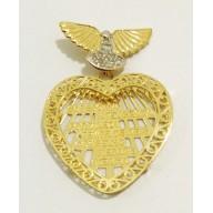 Pingente Espirito Santo em Ouro Amarelo 18K