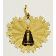 Pingente Nossa Senhora da Aparecida em Ouro Amarelo 18K